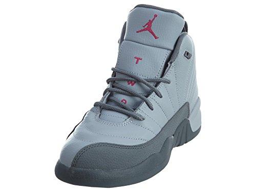 Jordan 12 Retro Kleine Kinder Wolfsgrau / Vivid Pink / Cool Grey