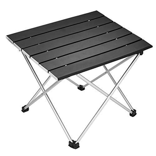 (Portable Camping Table,Aluminum Folding Table Ultralight Camp Table with Carry Bag Collapsible Table Top for Picnic,Cooking,Camping,Beach,Festival)
