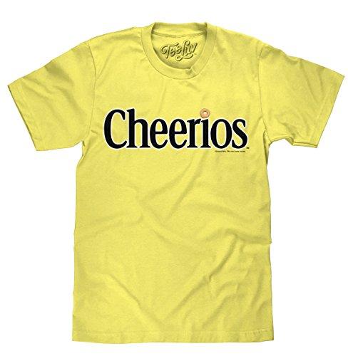 Tee Luv Cheerios - Playera con Logotipo de Cheerios Cereal Box, Primavera Amarillo, Medium