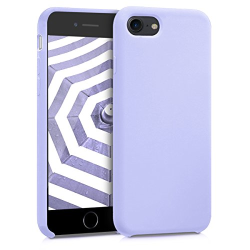 kwmobile TPU Silicone Case for Apple iPhone 7/8 - Soft Flexible Rubber Protective Cover - Lavender