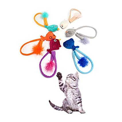 Amazon.com : HBK Pets Teaser Cats Toys Mice Mouse Interactive Products for Pets Supplies Animals Shop Gatos Cats Stick Toy for Kittens QQM2070 : Pet ...