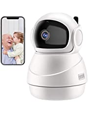 Security Camera Wireless HD 1080P WiFi Home Dome Surveillance Cameras Two-Way Audio Motion Detection Night Vision Pan/Tilt/Zoom for Baby/Elder/Pet