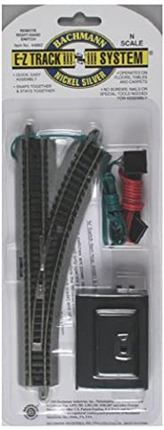 Bachmann Remote Turnout - Right - N Scale (Bachmann N Scale Track Layouts)