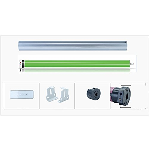 Tubular Roller Shade Motor Kit with Remote Control for Motorized Electric Roller Blind Shades (Wired) by FineFun (Image #1)