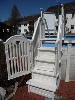 Poolzon - Escalera de plástico Easy-Step 4x4 Safety: Amazon.es: Jardín