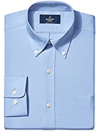 Men's Classic Fit Button-Collar Solid Non-Iron Dress Shirt