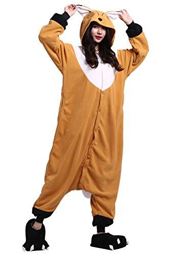 Fox Animali Costume Unisex Pigiama Orange Adulto Cosplay Kigurumi YwUzz