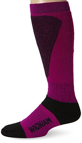 Wigwam Women's Snow Sirocco Knee-High Performance Wool Ski Socks, Hot Magenta, Medium (Sock High Ski Performance)