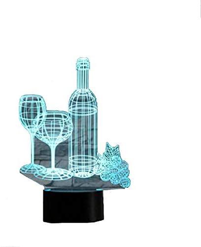 Lámpara 3D mágica de regalo de Navidad, ilusión óptica 3D, lámpara ...