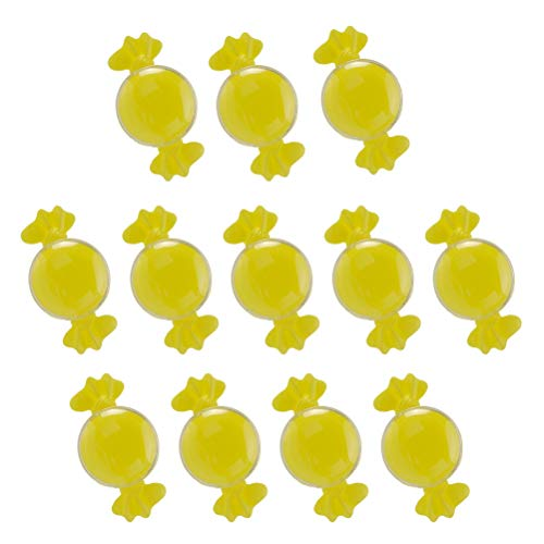 BESTONZON 24pcs Candy Shape Candy Case Container Holder Mini Sweet Box for Baby Shower Birthday Wedding Party Supplies (Yellow)]()