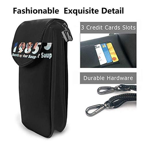HYJUK Mobiltelefon crossbody väska bowling för soppa liten crossbody mobiltelefonväska PU mini messenger axelväska plånbok för kvinnor