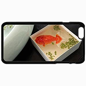Customized Cellphone Case Back Cover For iPhone 6 Plus, Protective Hardshell Case Personalized Fish Black