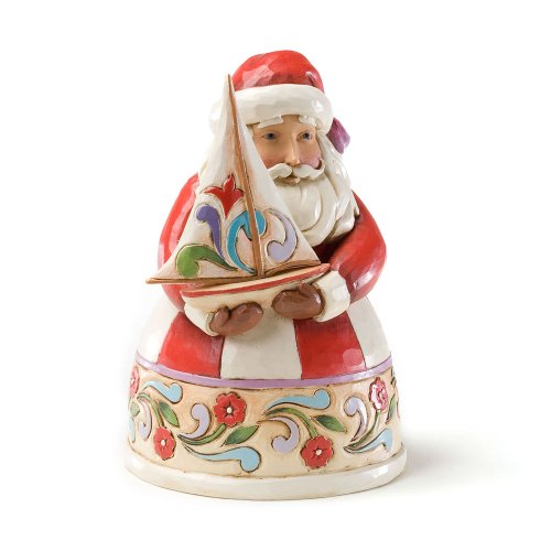 Enesco Jim Shore Heartwood Creek from Santa with Sailboat Figurine 4.75 in