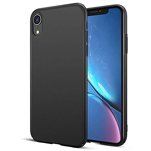 HiZiTi iPhone XR Case, Thin Ultra-Slim Fit Matte Finish Hard Plastic PC Phone Case Cover Compatible for iPhone XR(6.1) - Black