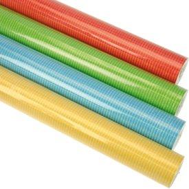 2er Rollen Set Unifarben einfarbig gelb blau rot gruen usw.