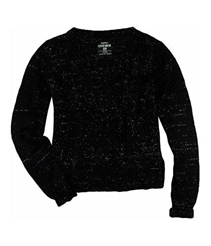 - Ecko Unltd. Womens Open Neck Cable Knit Pullover Sweater Black XS
