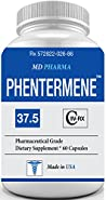 PHENTERMENE 37.5 ® (Pharmaceutical Grade OTC - Over The Counter - Weight Loss Diet Pills) Advanced Appetite Suppresant - Increase Energy - Clinically Proven Ingredients - Made in USA (1 Month Supply)