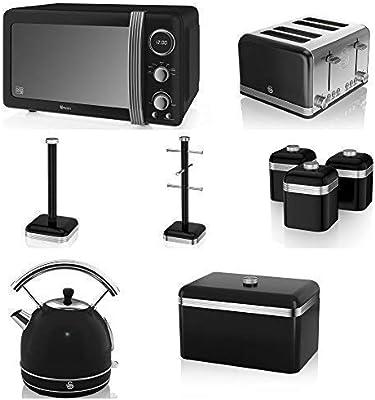 Cisne Negro Cocina Electrodoméstico Retro Juego de 9 - Digital ...