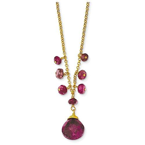 rmeil Ruby Necklace (Ruby Vermeil Necklace)