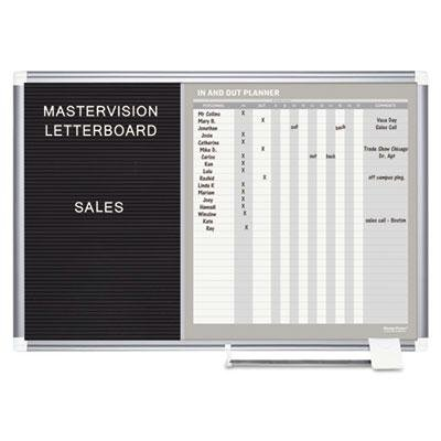 Mastervision - In-Out And Notice Board 36X24 Silver Frame ''Product Category: Presentation/Display & Scheduling Boards/Planning Boards/Schedulers''