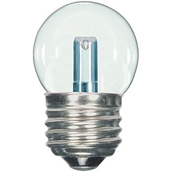 Satco S9160 LED S11 Clear 2700K Medium Base Light Bulb, 1.2W