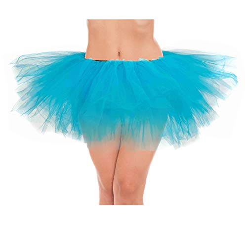 Sully Dress Up (belababy Women's Tutu Classic 5 Layered Tulle Dress Up Skirt Blue One)