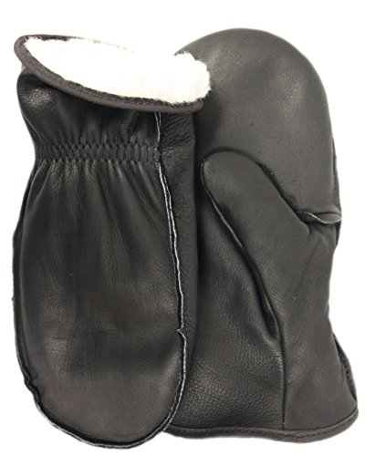 American Made Cowhide Leather Pile Lined Chopper Mitt Gloves , 9200PLBK, Size: - Jumbo Chopper