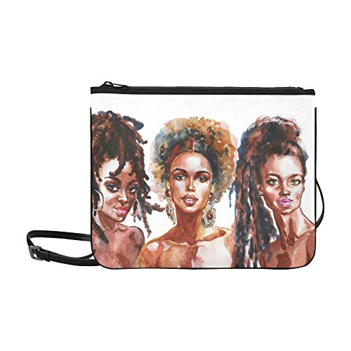 Oil Painting Pattern Custom Highgrade Nylon Slim Clutch Bag Crossbody Bag Shoulder Bag