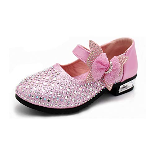 Kikiz Toddler Girl's Princess Dress Shoes Kids Mary Jane 7 M US Toddler]()
