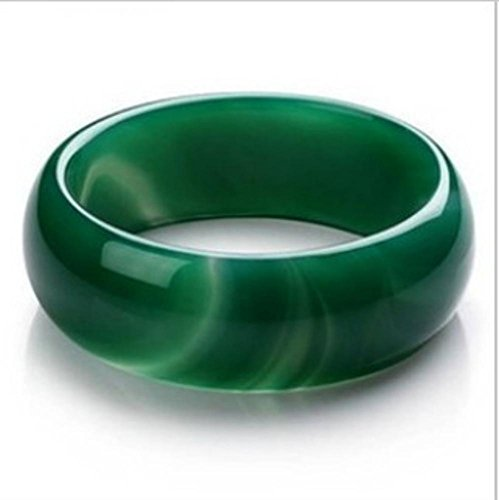 Zhiming Natural Agate Grass Green agate Jade Lady Jade Bracelet