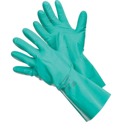 Ansell 37-646 VersaTouch Chemical Resistant Gloves, Nitrile, Size 9, 1 Pair - Pkg Qty 12 (37-646-9)
