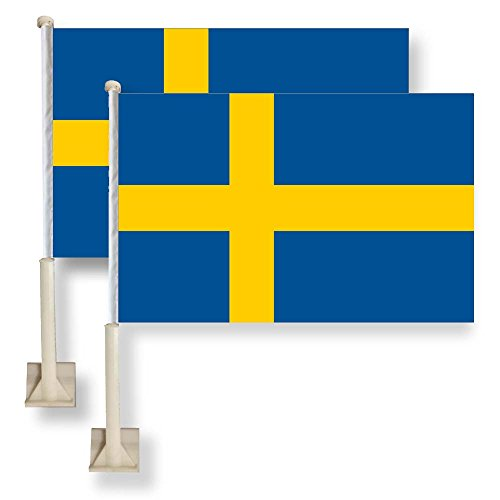 Flag King Sweden Car Window Flag 11X16Inch(28x40cm) for sale  Delivered anywhere in USA