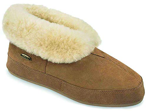- ACORN Men's Sheepskin Bootie,Walnut,11 M