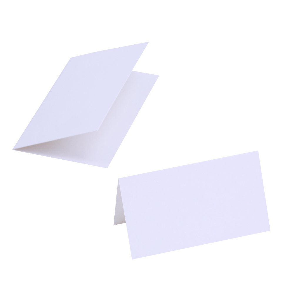 Supla 100 Pcs Table Name Place Cards Blank Place Cards White Table ...