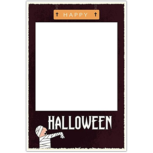 Mummy Halloween Party Selfie Frame Social Media Photo Prop Poster