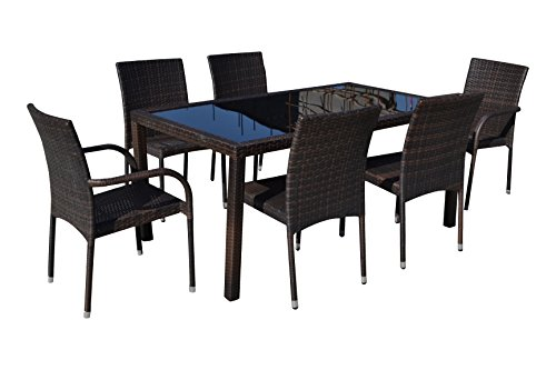 Manhattan Comfort Village 7 Piece Outdoor Dining Set price