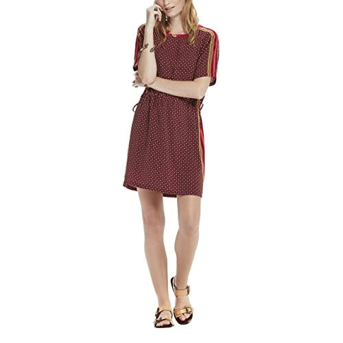 c90601a75c873f low-cost Scotch   Soda Maison Silky Feel Dress with Placement Prints and Tie  Detail