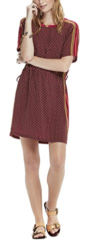 bb5374f0e9bf59 Scotch   Soda Women s Silky Feel Dress with Placement Prints and Tie Detail  Casual Clothes  Amazon.co.uk  Clothing