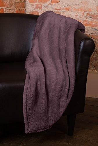 Silky Blanket Fleece (Elle Decor Silky Soft Thick Plush Throw Blanket (Fig, King 90