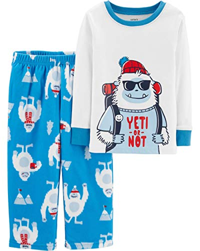 Carter's Boys (Toddler/Kid) 2 Pc Micro Fleece Pajama Set (2T, Bedtime Yeti) ()