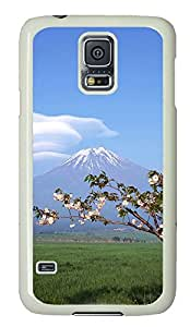 galaxy s5 case,custom eggs samsung Using galaxy that s5 case,TPU Material,Drop Protection,Shock Absorbent,white case,Mt. Fuji under the cherry trees SALE about