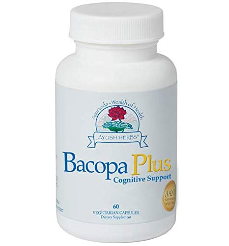 (Ayush Herbs Bacopa Plus Herbal Supplement, 60 Count)
