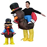 Adult Inflatable Costume Thanksgiving Turkey Costume Chicken Halloween Cosplay Costume Funny Blow up Thanksgiving Christmas Party Dress up Suit