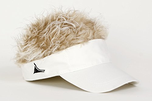 FlairHair White Visor with Blonde ()