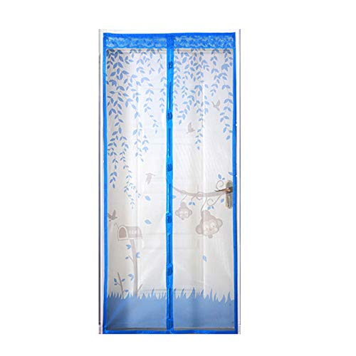 bluee 90210AntiMosquito Curtain Magnetic Soft Yarn Curtain Screen Door encryption AntiFly Screen Curtain Mosquito Screen Door Screen,Brass,90  210