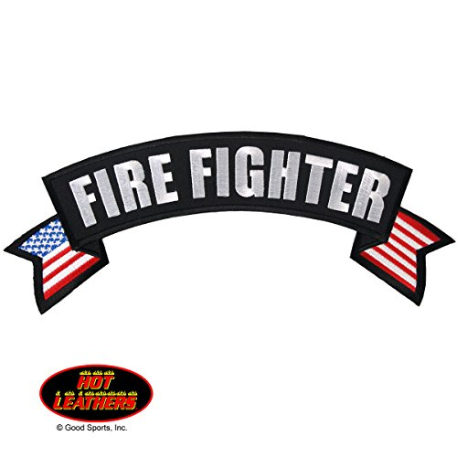 Hot Leathers, FIRE FIGHTER BANNER, Iron-On / Saw-On Rayon PATCH - 11