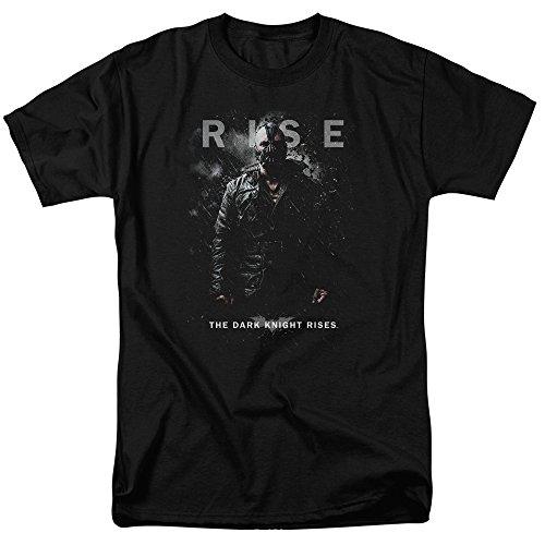 Trevco Men's Batman Dark Knight Rises Short Sleeve T-Shirt, Bane Black, Large