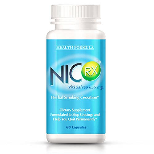 - NicRx | Natural Anti Smoking Pills with Lobelia to Help Quit Smoking & Curb Nicotine Addiction | Control Cigarette Cravings & Withdrawal Symptoms | Safe, Nicotine Free & No Side Effects | 60 capsules