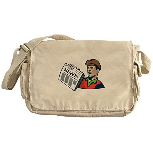 CafePress - Newsboy Newspaper Delivery Retro - Unique Messenger Bag, Canvas Courier Bag