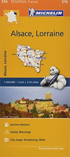 Michelin Regional Maps: France: Alsace, Lorraine Map 516 (Michelin Regional France)